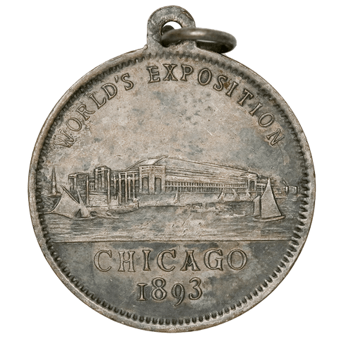 Scarce 1893 Chicago Worlds Fair Christopher Columbus Medal - About Uncirculated