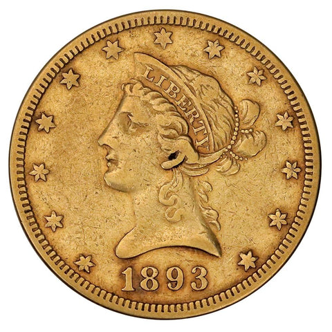 1893 $10 Liberty Gold Eagle - Very Fine - Super Cheap!