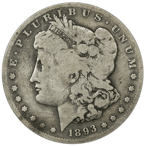 1893-S Morgan Dollar - ANACS VG 8 - Key Date in Very Good 8