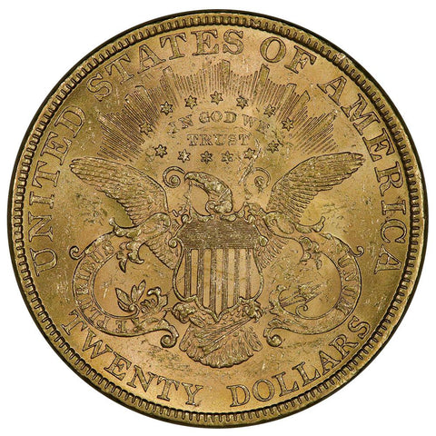 1894 $20 Liberty Double Eagle Gold Coin - About Uncirculated+