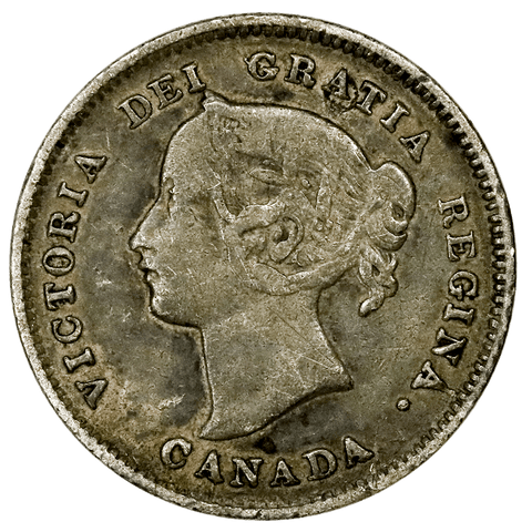 1894 Canada 5 Cent Silver KM.2 - Very Good/Fine