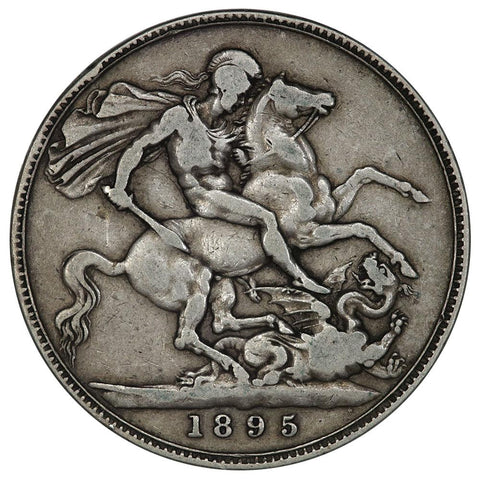 1895 LIX Great Britain Silver Crown KM.783 - Fine