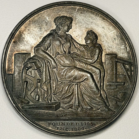 1895 Massachusetts Charitable Mechanic Association Silver Medal - Gobrecht Obverse