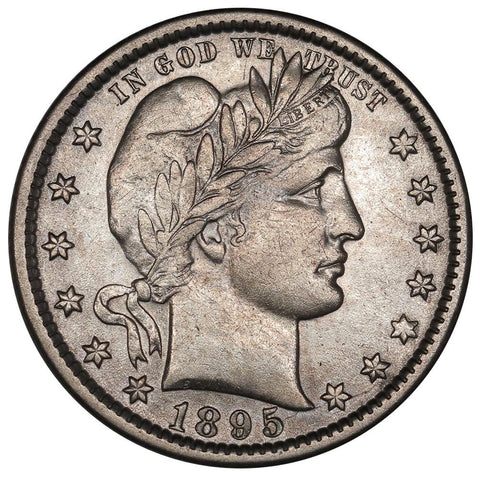 1895-O Barber Quarter - About Uncirculated