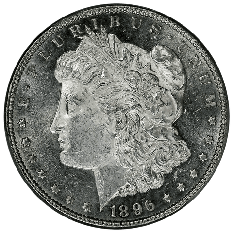 Prooflike 1896 Morgan Dollar - PCGS MS 61 PL