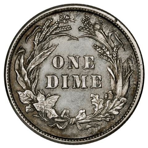 1896 Barber Dime - Cleaned Proof (rim nick) - Low 762 Mintage