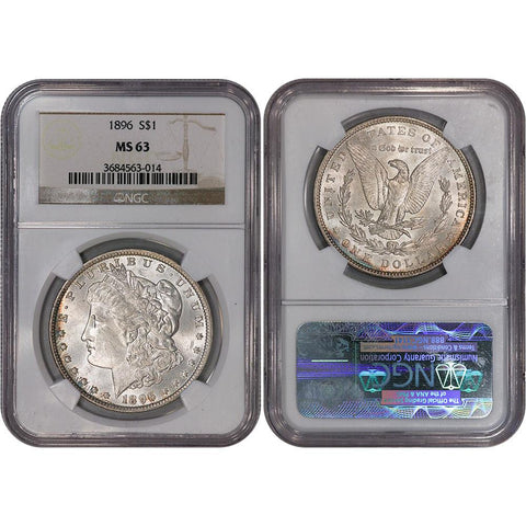 1896 Morgan Dollar - NGC MS 63 - Choice Brilliant Uncirculated