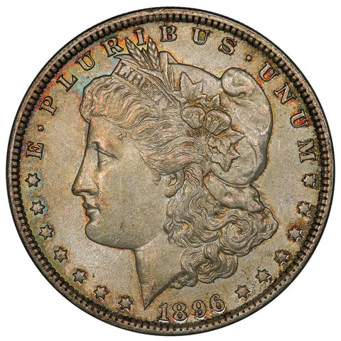 1896 Morgan Dollar - Prettily Toned Uncirculated