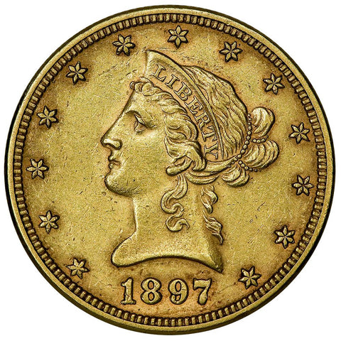 1897 $10 Liberty Gold Eagle - About Uncirculated