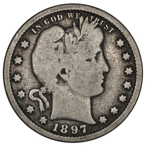 1897-S Barber Quarter - Good+