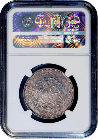 1897 South Africa Silver 2 1/2 Shillings KM.7 - NGC MS 61 - Toned Uncirculated