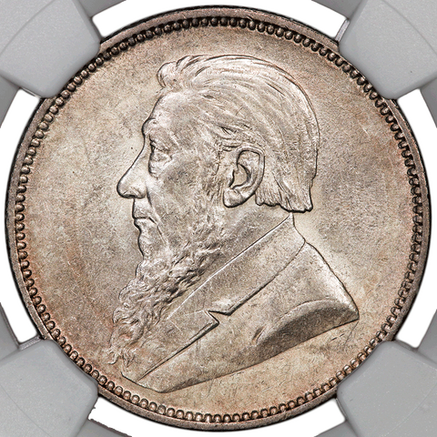 1897 South Africa Silver 2 Shillings KM.6 - NGC AU 58