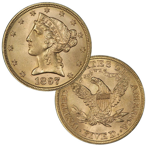 Late 1800s $5 Liberty Gold Coin Special - Premium Quality Brilliant Uncirculated