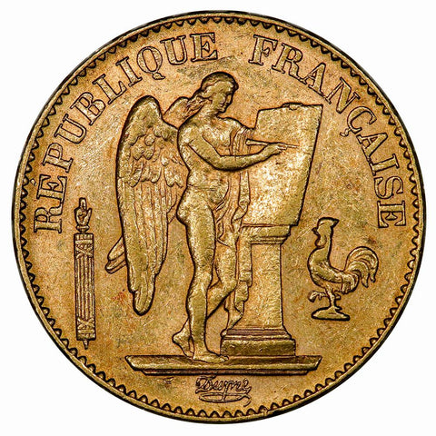 1897 French Gold 20 Franc Angel KM.825 - Extremely Fine