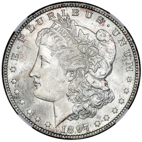 1897 Morgan Dollar - NGC MS 65 - Gem Brilliant Uncirculated