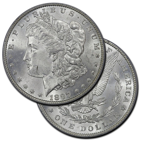 Morgan Dollars by Date (1894-1899) - Brilliant Uncirculated