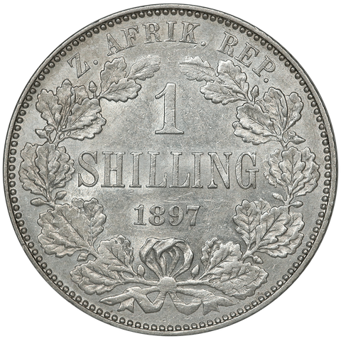 1897 South Africa Silver Shilling KM.5 - Brilliant Uncirculated