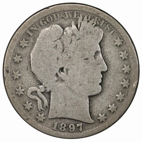1897-S Barber Half Dollar - About Good
