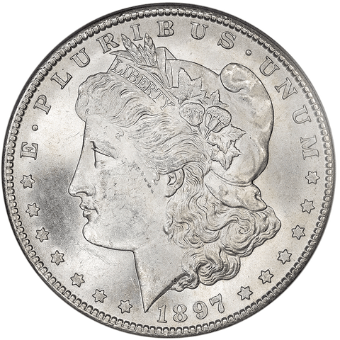 1897-S Morgan Dollar - PCGS MS 63 - Choice Brilliant Uncirculated