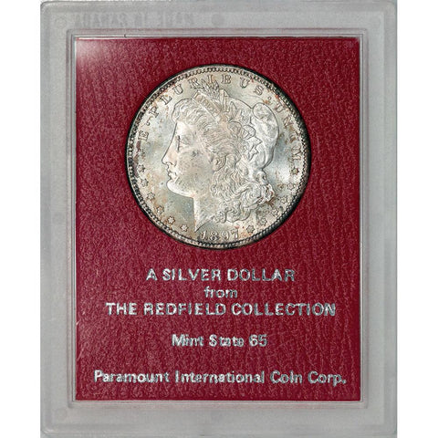 1897-S Morgan Dollar - Redfield Collection MS 65