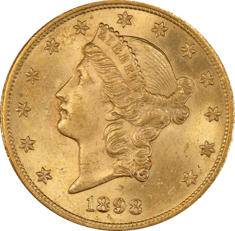 Better Date $20 Liberty Gold Double Eagles - Certified XF 45 - MS 61