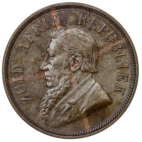 1898 South Africa Penny KM.2 - Choice About Uncirculated