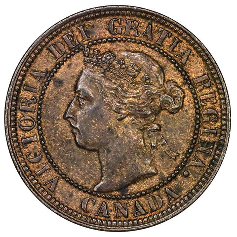 1898-H Canada Large Cent KM.7 - About Uncirculated