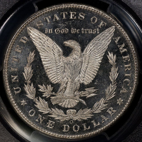 1898-O Morgan Dollar - PCGS MS 62 DMPL Black & White Cameo
