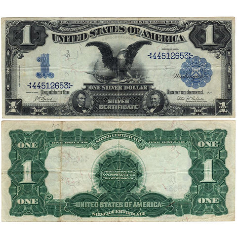 1899 Black Eagle $1 Silver Certificate Fr.226 Date Above - Very Fine