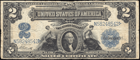 "1899 $2 ""Mini Porthole"" Silver Certificate Fr. 257 - Very Good/Fine"