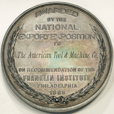1899 National Export Exposition (Philadelphia Expo) Silver Award Medal