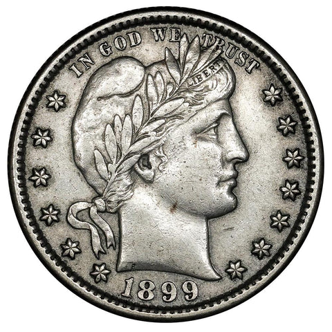 1899-S Barber Quarter - About Uncirculated
