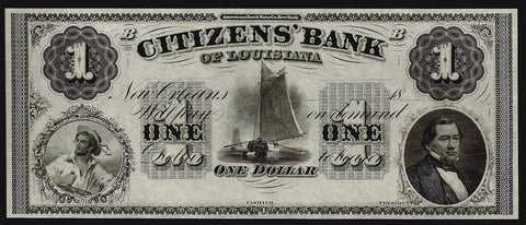 18__ $1 Citizens Bank of Louisiana Remainder G2 ~ Gem Crisp Uncirculated