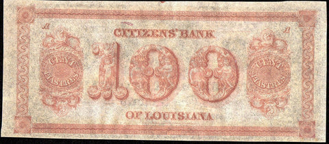 18__ $100 Citizens Bank of Louisiana Remainder - Crisp Uncirculated