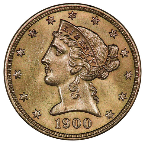 1900 $5 Liberty Head Gold Coin - PQ Brilliant Uncirculated