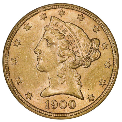 1900 $5 Liberty Head Gold Coin - NGC MS 61 - Brilliant Uncirculated
