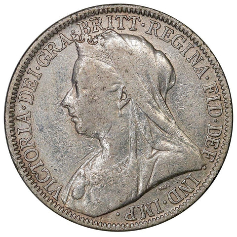 1900 Great Britain Victoria Silver Florin - Extremely Fine