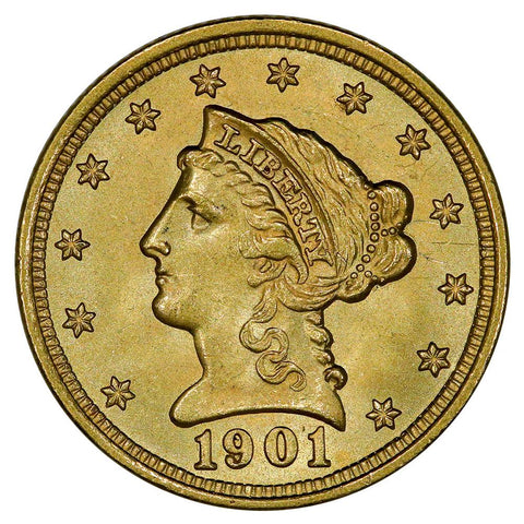 1901 $2.5 Liberty Gold Coin - PQ Brilliant Uncirculated