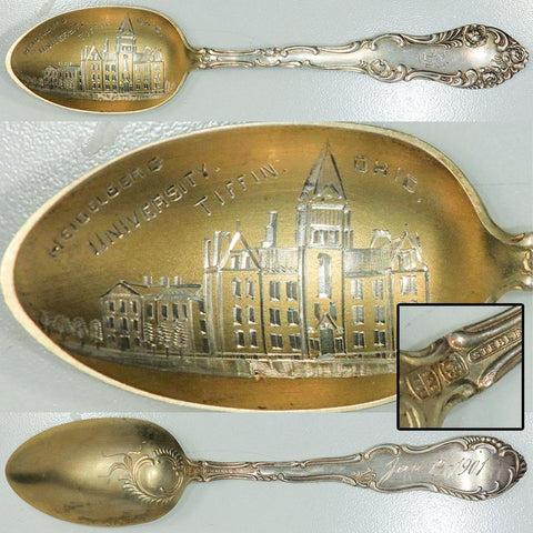 1901 Sterling Silver Heidelberg University, Tiffin OH Souvenir Spoon