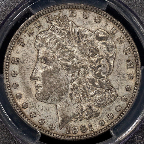1901 Morgan Dollar Doubled Die Reverse - PCGS AU 53 - Scarce Red Book Variety