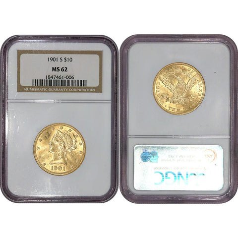 1901-S $10 Liberty Gold Eagle - NGC MS 62 - Brilliant Uncirculated