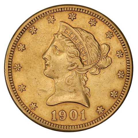 1901-S $10 Liberty Gold Eagle - About Uncirculated - Super Cheap!