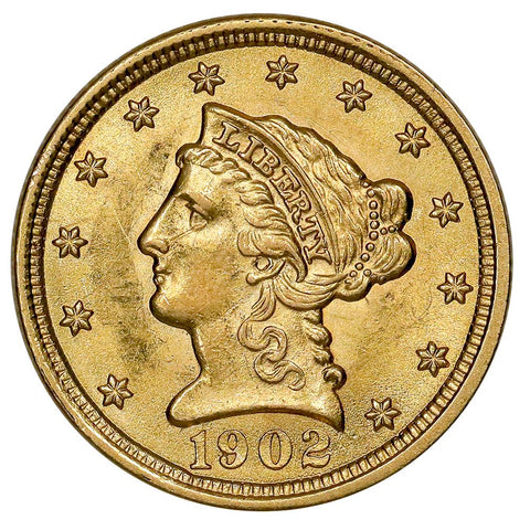 1902 $2.5 Liberty Gold Coin - Brilliant Uncirculated