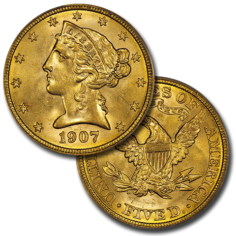 About Uncirculated $5 Liberty Gold Coin Special - Up To 15 Different (10.22.2015)