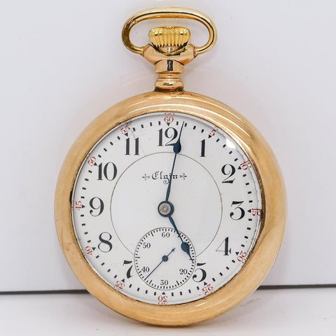 1902 Elgin GF Railroad Grade Pocket Watch - 21 Jewel, Grade 214 Veritas, Size 18s
