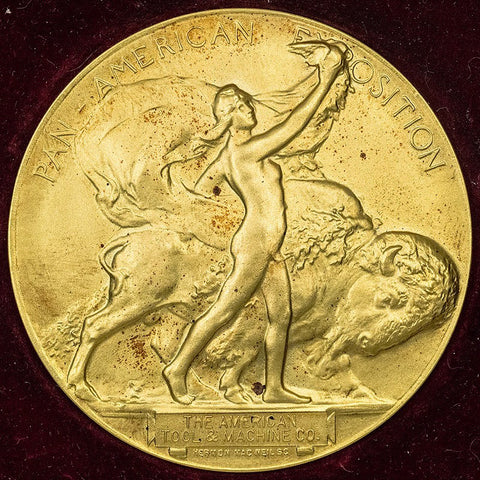 1901 Pan-American Exposition Gilt Bronze Medal by Gorham