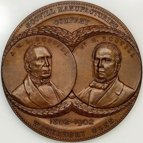 1902 Scovill Manufacturing Co. Bronze Medal Presented to American Tool & Machine Co, 76mm