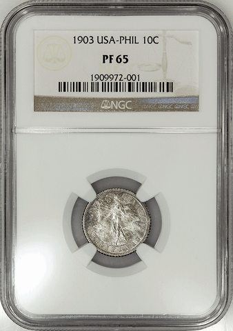 1903 Philippines Proof Silver 10 Centavos KM.165 - NGC PF 65 - Pretty!