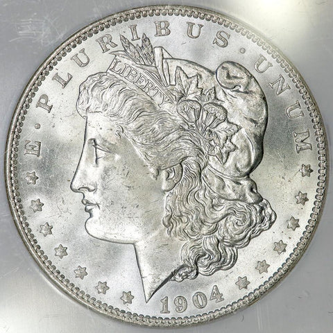 1904-O Morgan Dollar in NGC MS 64 - Choice Brilliant Uncirculated