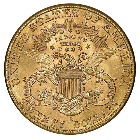 1904-S $20 Liberty Double Eagle Gold Coin - Choice Brilliant Uncirculated